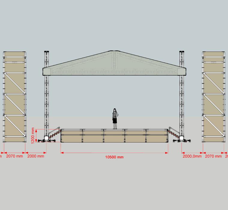 Техническое оснащение площадок, монтаж сцены